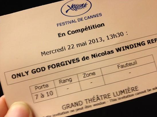 Only God Forgives ticket