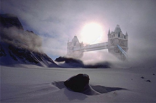 Snow covered London