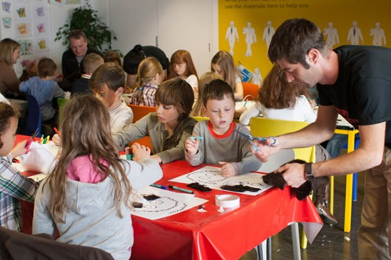 Children in a workshop at Discovery Festival