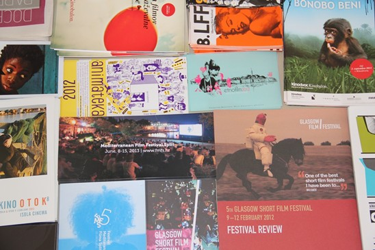 Flyers from participant film festivals in Motovun
