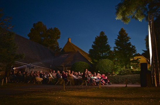 Outdoor cinema at the Barn