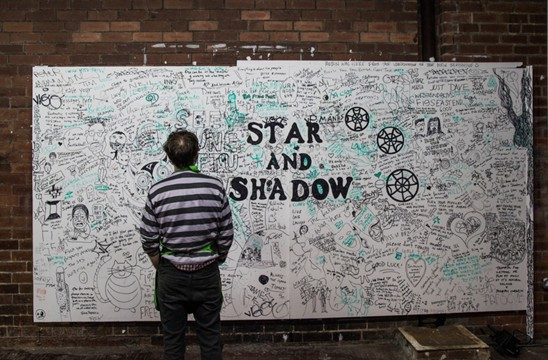star and shadow wall