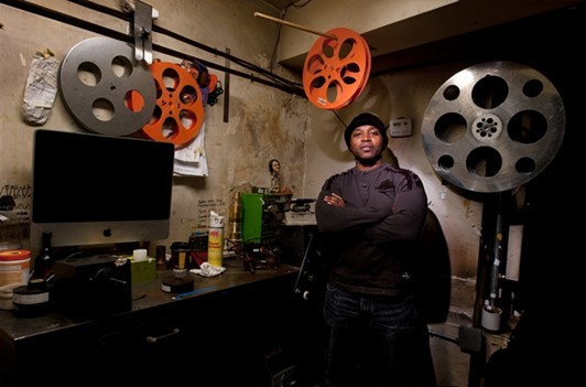 Bryan projectionist at Brooklyn Heights Cinema